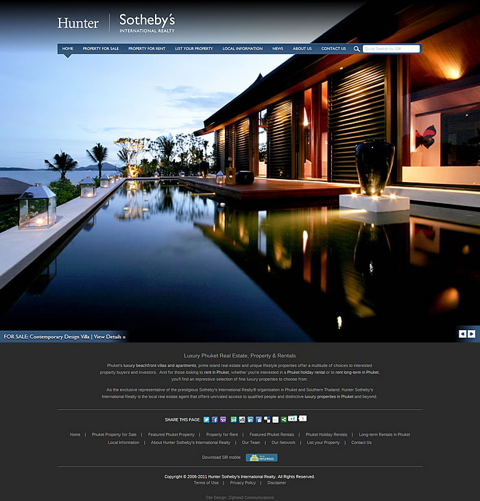 phuket real estate website design