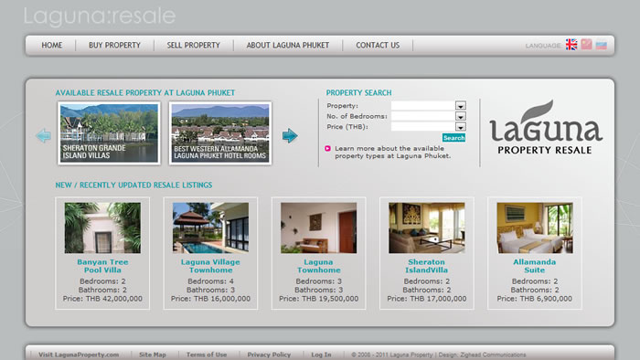 phuket property website design