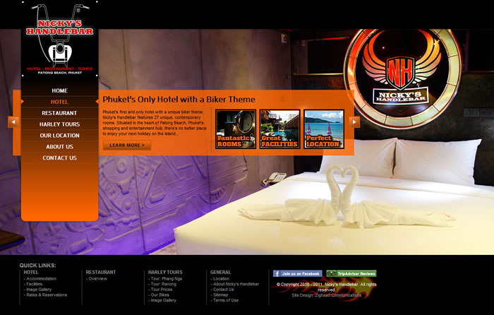 phuket hotel restaurant website design