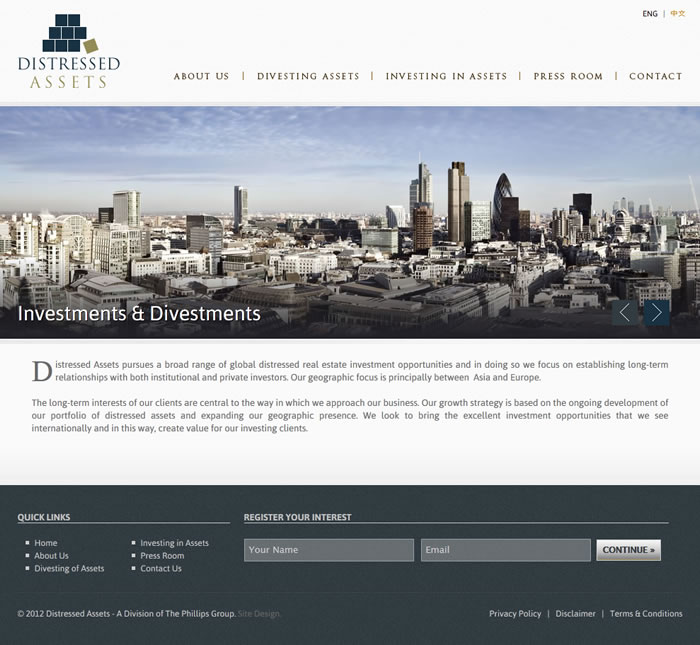 real estate investment website design
