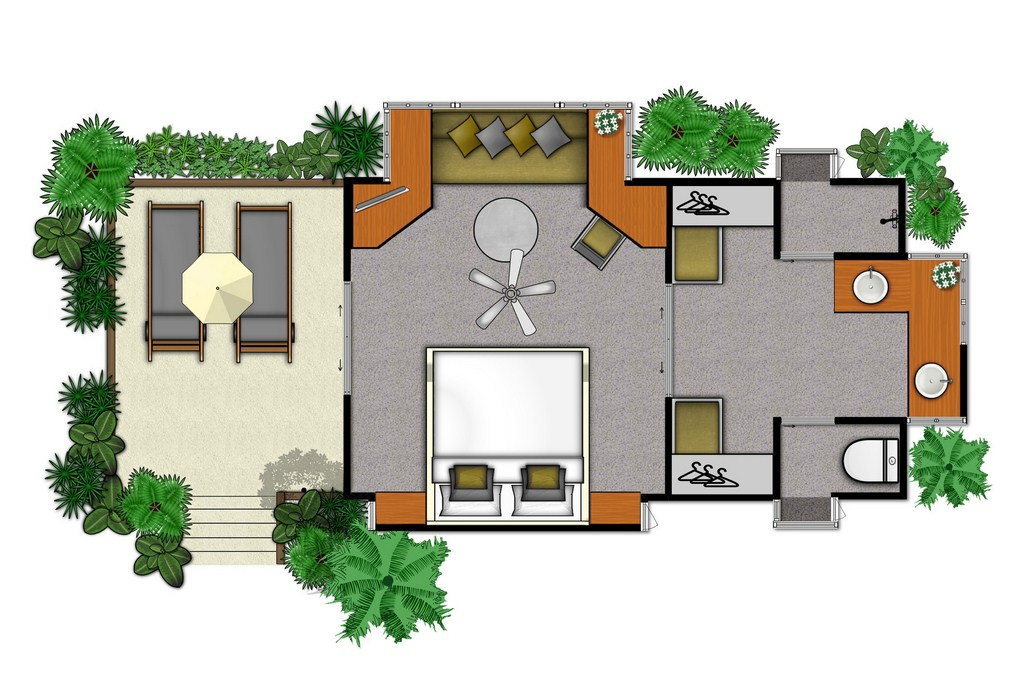 Floor plans for hotels resorts real estate sales for Resort style house plans
