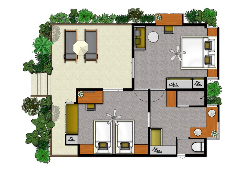 Floor plans for hotels resorts real estate sales two bedroom hotel suite malvernweather Choice Image